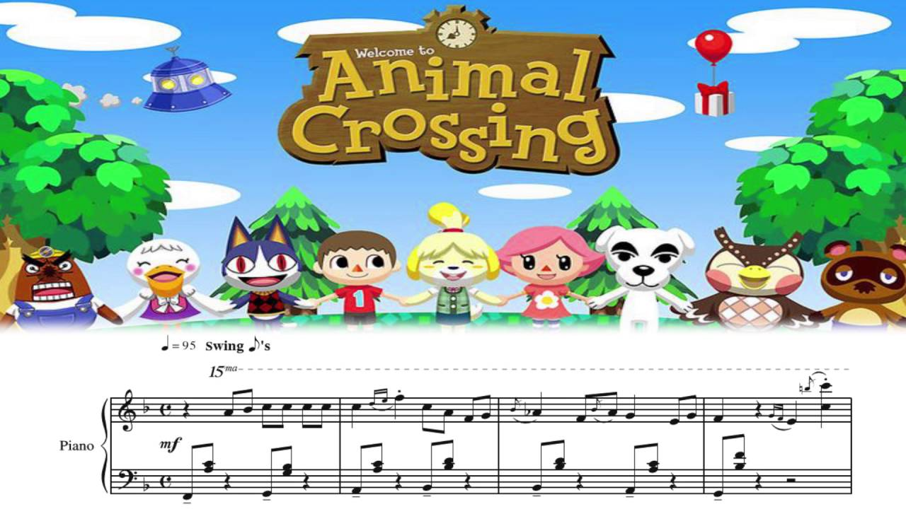 Animal Crossing New Leaf Main Theme (Full) sheet music for ...