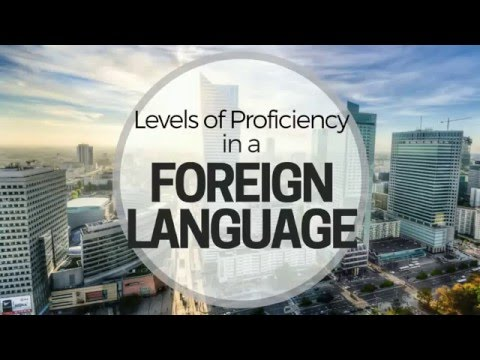 Levels of Proficiency in a Foreign Language