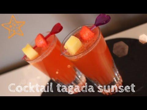 Recette Cocktail Tagada Sunset Youtube