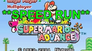 Super Mario Advance Speed Run (in 7 minutes!!) Any %!