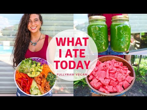 WHAT I ATE TODAY |  Raw Vegan Summer Recipes...Tea & Shrooms?