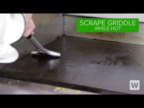 How to Clean a Restaurant Griddle Using the Griddle Gear Cleaning Kit!