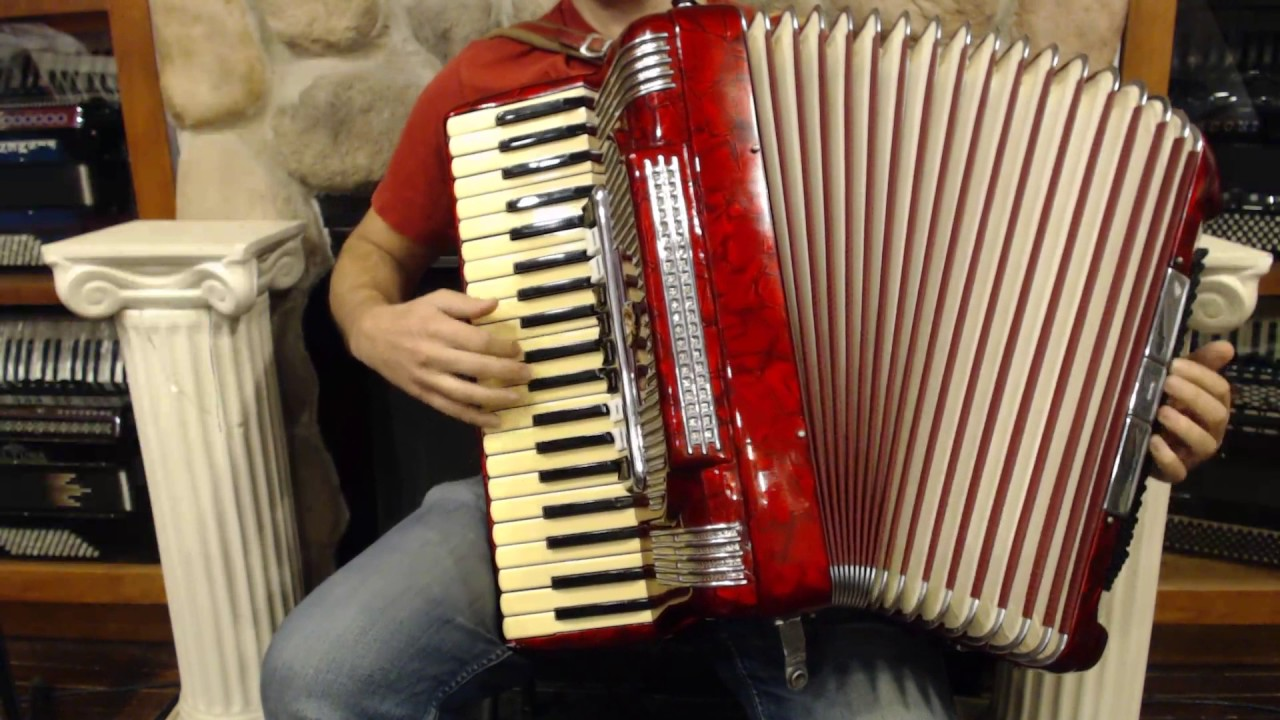 2368 - Red Italian Piano Accordion 41 120 LMMH $995