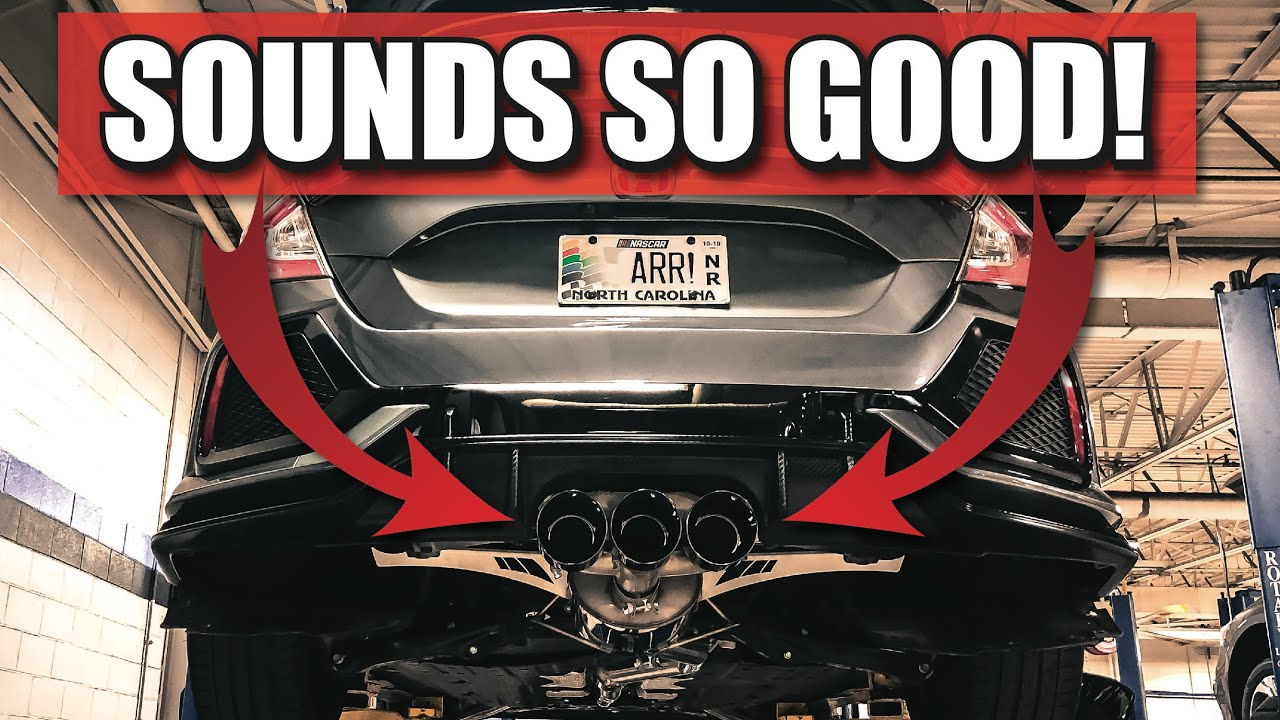 best exhaust setup for the fk8 civic type r awe tuning exhaust on the honda civic type r