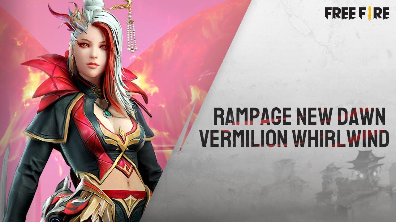 Rampage New Dawn - Vermilion Whirlwind Bundle   Garena Free Fire