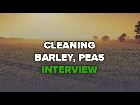 Interview of  Art Rohr  from Devils Lake, North Dakota, cleaning barley, peas.