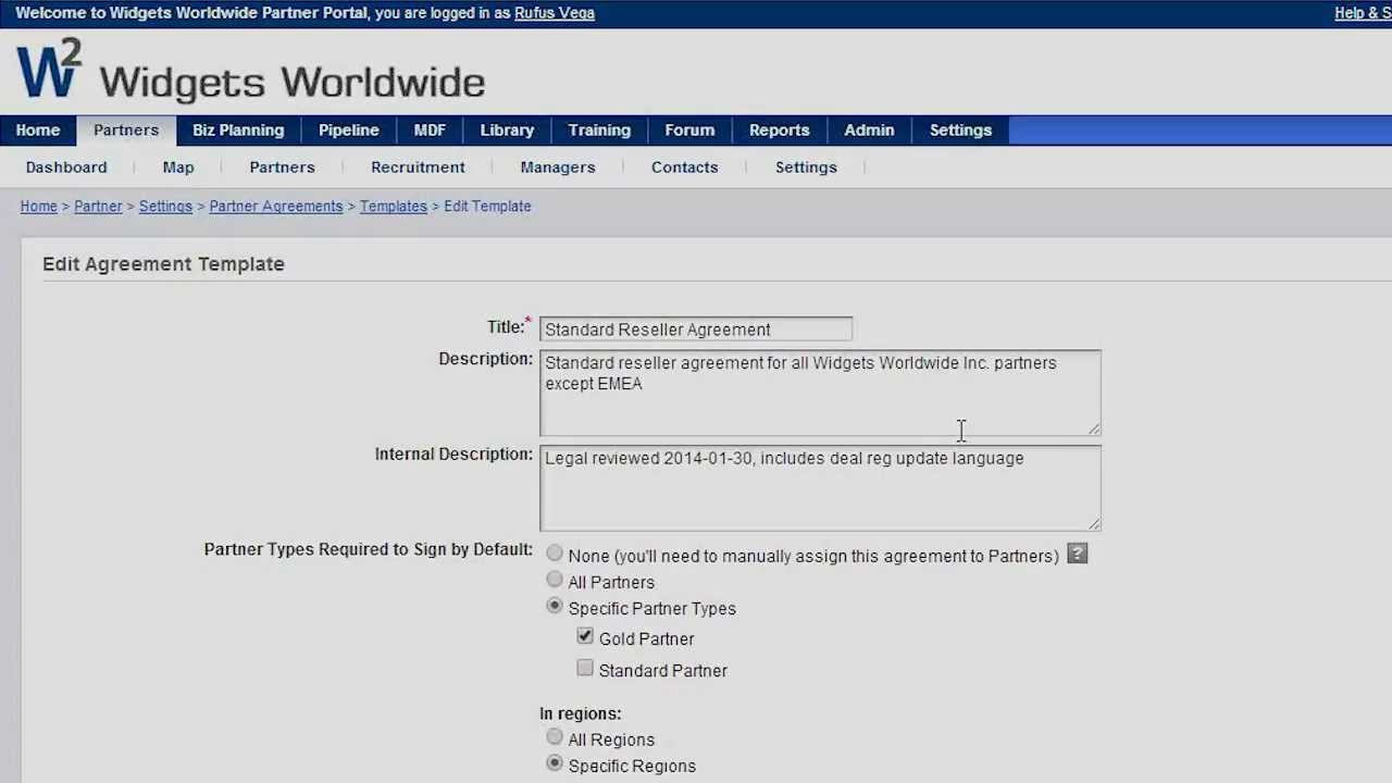 What is the Partner Agreements Functionality and How Do I Use It – Reseller Agreement Template