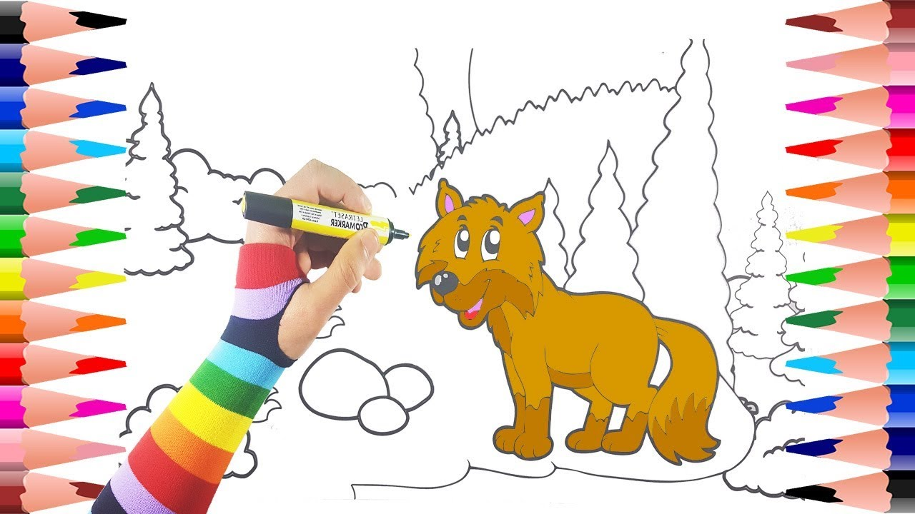 Painting Fox Coloring Pages