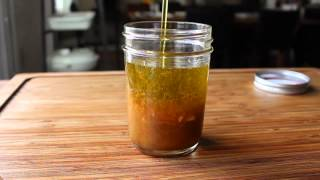 "Orange Cumin Vinaigrette - The Old ""make-n-shake"" Salad Dressing Method"
