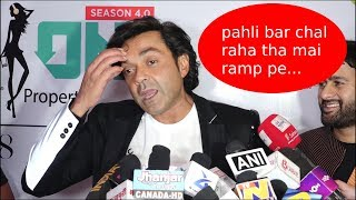 Bobby Deol First time Ramp Walk At Exhibit Tech Fashion Tour 2018