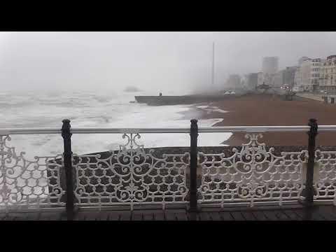 stormy very big waves by caroline brighton uk