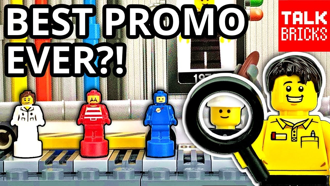 BEST PROMO SET EVER?! LEGO Minfigure Factory Review! 40th Anniversary Set!  LEGO Store Promotion!