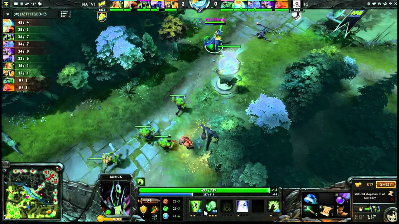 iG vs Na`Vi Game 2, Winner Bracket Semifinals – The International – English Commentary