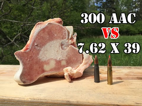 300 AAC Blackout vs 7.62x39... Bone Test