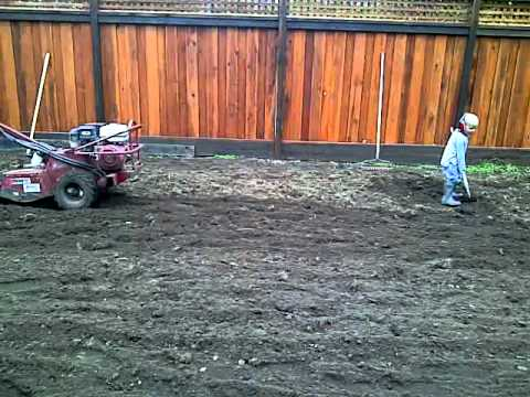 Roto Tilling The Back Yard
