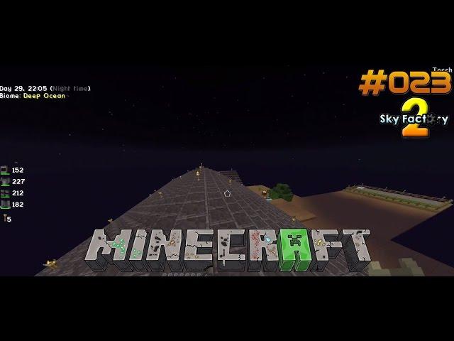 Let's Play Minecraft Sky-Factory 2 | Dach und Vorgarten Fertig !! | Folge #023