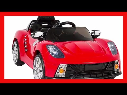 Best Choice Products Kids 12V Ride On Car with MP3 Electric Battery Power, Red