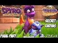 Spyro Reignited Trilogy Gameplay Year of the Dragon Part 14 - Secret Ending