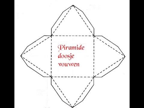 piramide doosje vouwen - youtube