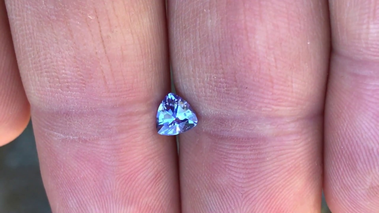 Genuine Tanzanite Trillion Cut Gemstone, Grade AA at AfricaGems