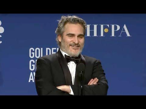 Joaquin Phoenix - Joker | Golden Globes 2020 Full Backstage Interview