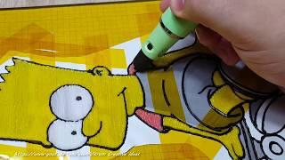 Як намалювати дитячі годинники 3D ручкою   Simpsons Toy Watch pen 3D