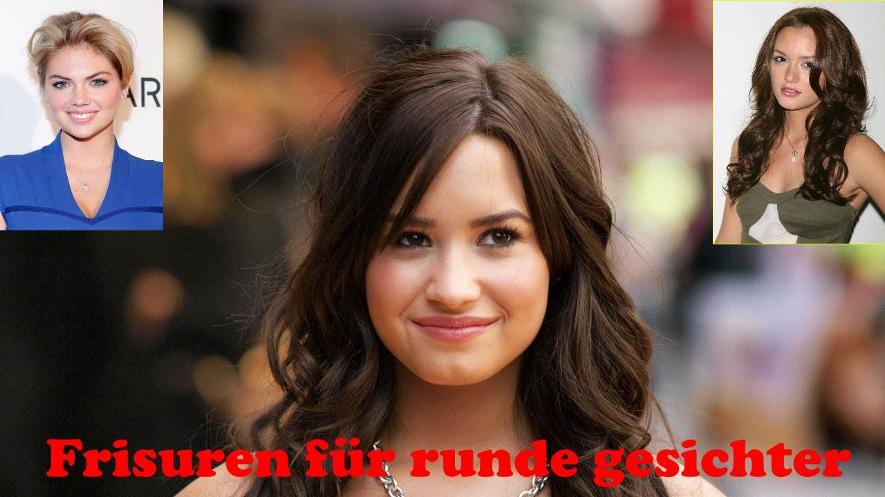 Frisuren Für Runde Gesichter Youtube