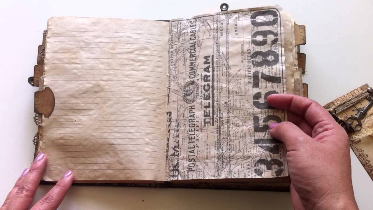 junk journal notebook journaling pages
