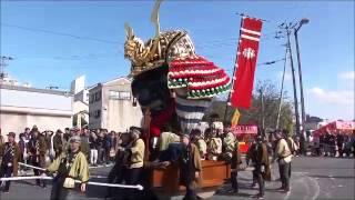 佐賀県唐津市で行われる唐津くんちの「四番曳山・源義経の兜」