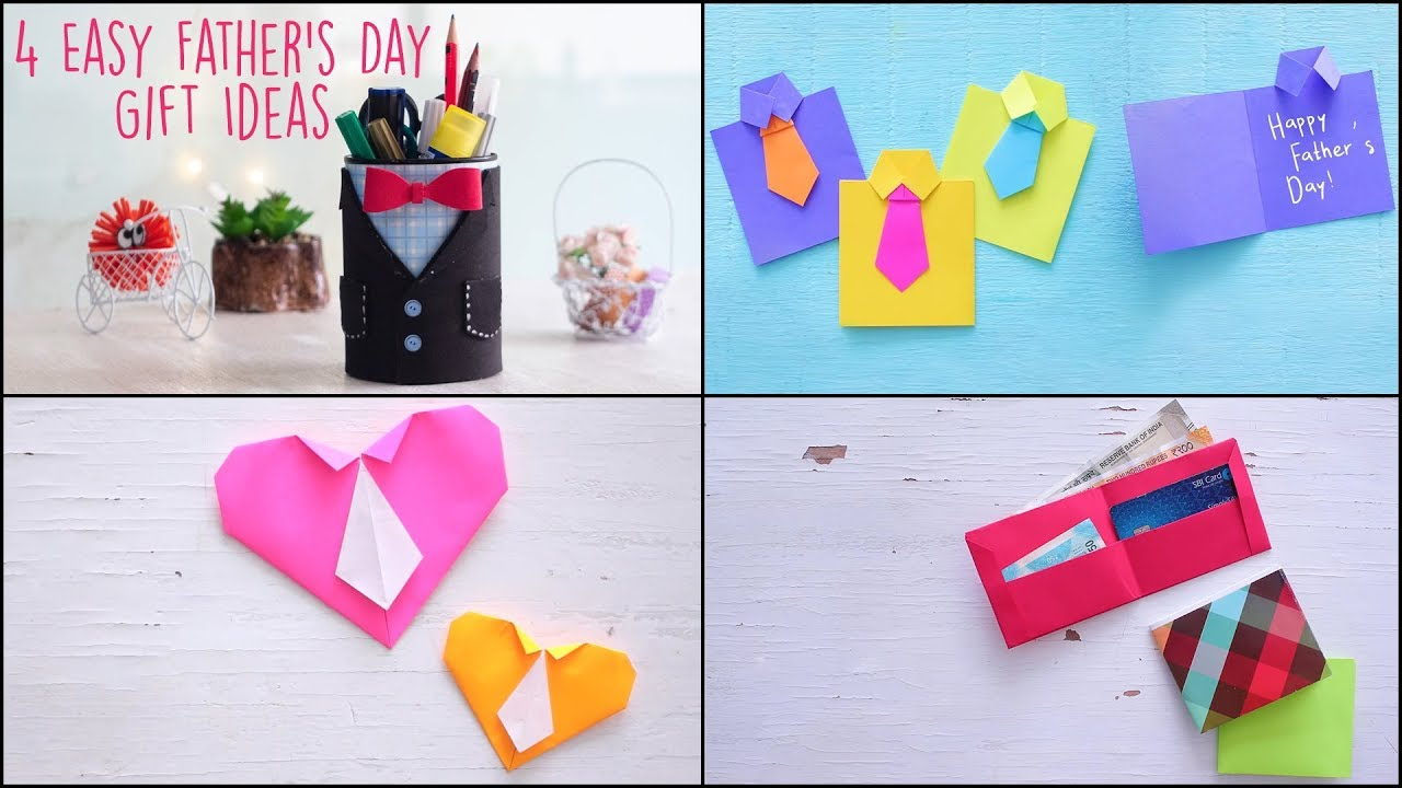 4 Handmade Father's Day Gift Ideas • fathers day gift ideas 2021