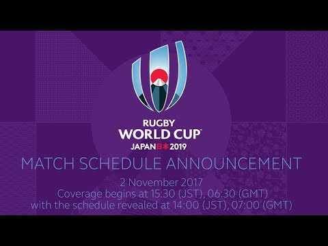 Rugby World Cup 2019 fixtures announcement LIVE