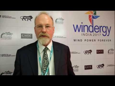 Steve Sawyer, secretary general, Global wind energy council at Windergy India 2017