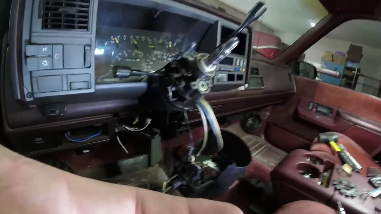 hight resolution of loose steering column and gear shift spring replacement