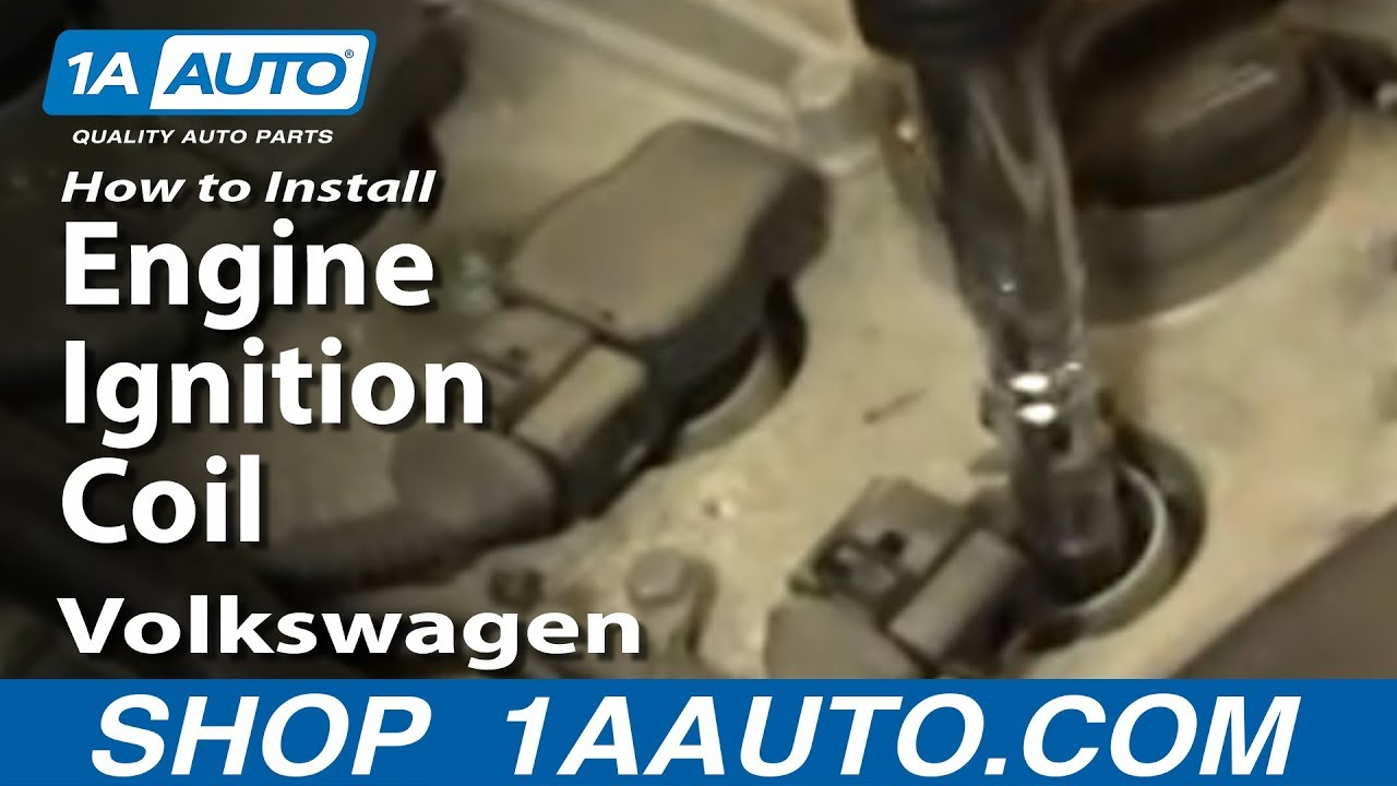 how to install replace engine ignition coil volkswagen passat 1 8t rh youtube com 2006 volkswagen passat 2.0t engine diagram