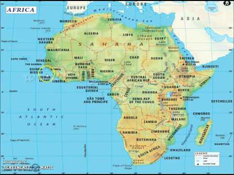 Africa Map Geography.Geography Lectures For Ias Continents Africa Youtube