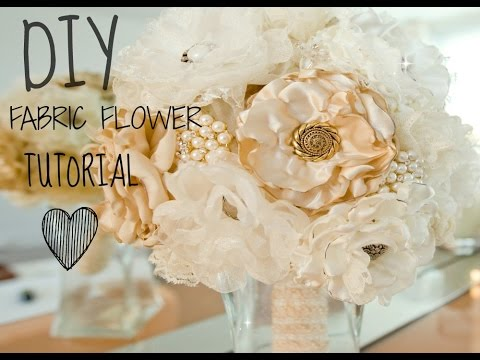 Best Fabric Flower Tutorial Burning Method