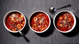 Curl up with a warm bowl of quick, satisfying and seasonal soup