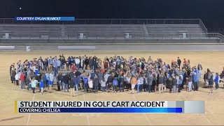 Neighbors showing support for Chelsea teen injured in golf cart accident