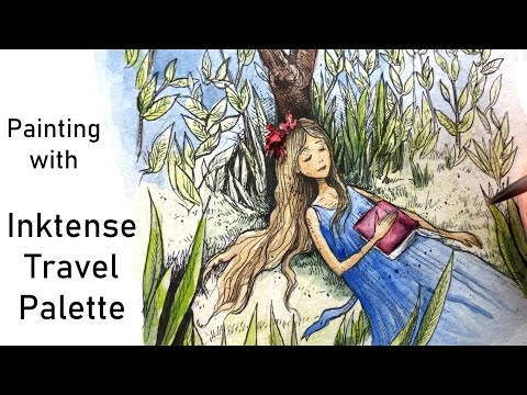 Relaxing Painting With Inktense Travel Palette