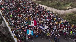Honduran migrants caravan to the U.S.