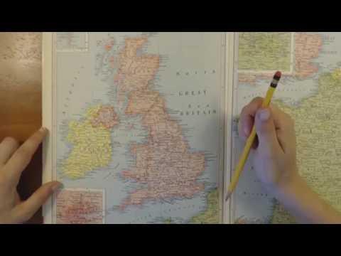ASMR - Exploring a 1950 world atlas