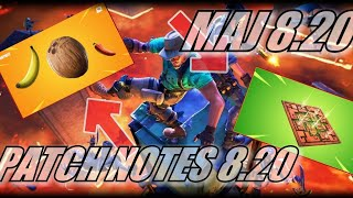 FORTNITE : Mise à jour 8.20 / Patch Notes for Fortnite v8.20 Poison Trap, The Floor is Lava LTM