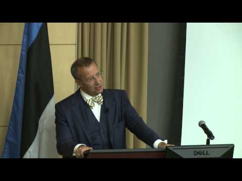 "Lecture: President Ilves of Estonia ""What Keeps Me Awake at Night?"""