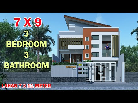 Desain Rumah Minimalis Ukuran 6x14  modern minimalist house models 1 5 level split 7x9 meters on a 7x11 3 bedrooms 4 toilet