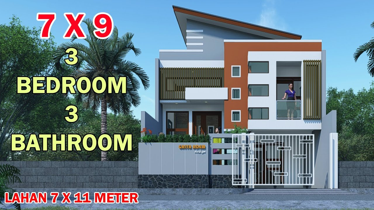 Desain Rumah 3 Lantai Minimalis Modern Minimalist House Models 1 5 Level Split 7x9 Meters On A 7x11 3 Bedrooms 4 Toilet