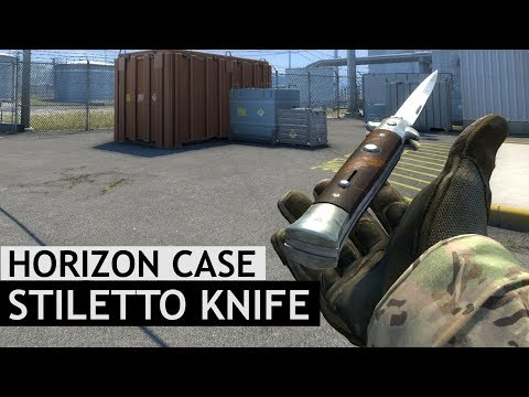 Stiletto Knife Animations | Horizon Case Update | CS:GO