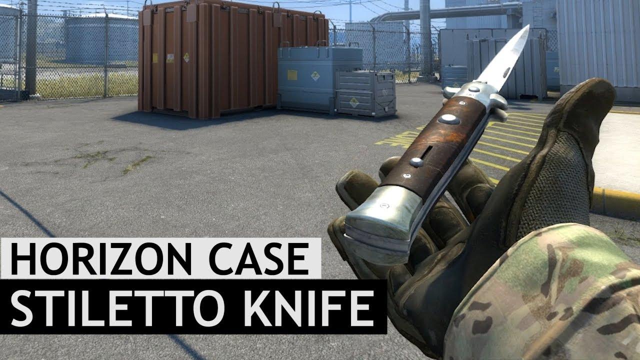 Stiletto Knife Animations | Horizon Case Update | CS:GO