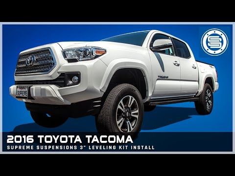 """2016 Toyota Tacoma 2WD   3"""" Front Leveling Kit Install Tutorial"""