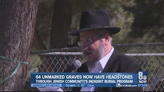 Dozens of unmarked graves in Jewish community receive headstones