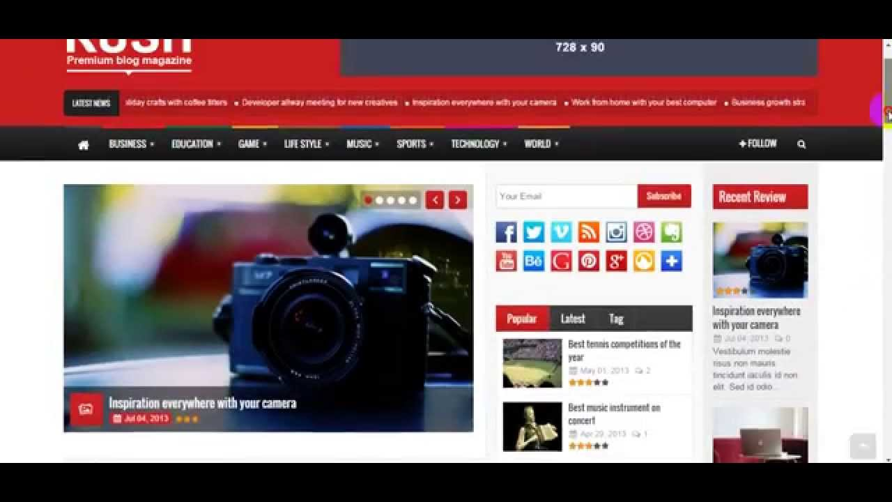 rush theme wordpress free download for news rush theme wordpress